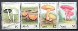 Nevis 1991 Yvert 610-13, Mushrooms - MNH - St.Kitts And Nevis ( 1983-...)