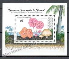 Nevis 1991 Yvert BF 40, Mushrooms - Miniature Sheet - MNH - St.Kitts And Nevis ( 1983-...)