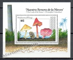 Nevis 1991 Yvert BF 46, Mushrooms - Miniature Sheet - MNH - St.Kitts And Nevis ( 1983-...)