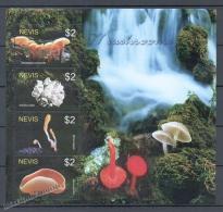 Nevis 2005 Yvert 1798-801, Mushrooms - MNH - St.Kitts And Nevis ( 1983-...)