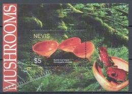 Nevis 2005 Yvert BF 250, Mushrooms - Miniature Sheet - MNH - St.Kitts And Nevis ( 1983-...)