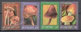 San Vicente - Saint Vincent 1992 Yvert 1540-43, Mushrooms - MNH - St.Vincent (1979-...)