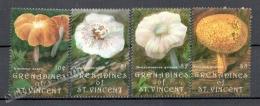 San Vicente Grenadines - Saint Vincent 1992 Yvert 748-51, Mushrooms - MNH - St.Vincent & Grenadines