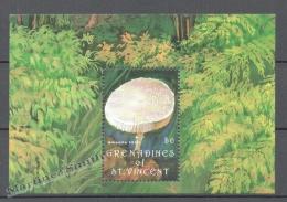 San Vicente Grenadines - Saint Vincent 1992 Yvert BF 79, Mushrooms - Miniature Sheet - MNH - St.Vincent & Grenadines