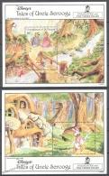San Vicente Grenadines - Saint Vincent 1992 Yvert BF 89-90, Disney, Uncle Scrooge, Goldilocks - Miniature Sheets - MNH - St.Vincent & Grenadines