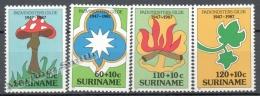Surinam - Suriname 1987 Yvert 1075-78, Mushrooms - MNH - Surinam
