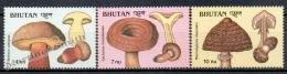 Bhutan - Bhoutan 1989 Yvert 856-58 Mushrooms - MNH - Bhutan