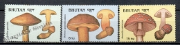 Bhutan - Bhoutan 1989 Yvert 859-61 Mushrooms - MNH - Bhoutan