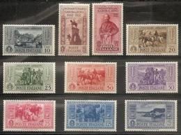 1932 Italia Italy Regno GARIBALDI Serie (S.63, 315-24) Di 10v. MLH* Air Mail - Airmail