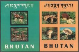 Bhutan - Bhoutan 1973 Yvert BF-56-57, Mushrooms - Miniature Sheets - MNH - Bhutan