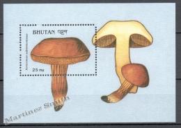 Bhutan - Bhoutan 1990 Yvert BF 247, Mushrooms - Miniature Sheet - MNH - Bhutan