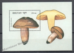 Bhutan - Bhoutan 1990 Yvert BF 254, Mushrooms - Miniature Sheet - MNH - Bhutan