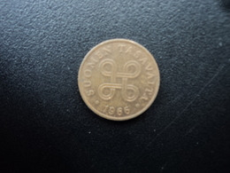 FINLANDE :  1 PENNI  1966   KM 44    SUP - Finlande