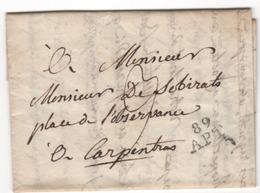 Marque Postale  ...89   APT  Du 24.02.1808  ( Indice 7 = 30 € ) - 1801-1848: Précurseurs XIX