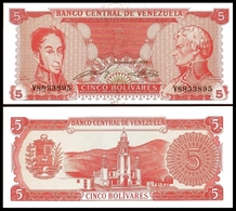 Venezuela 5 BOLIVARES 1989 P 70a UNC - Venezuela