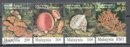 Malaysia 1995 Yvert 558-61, Mushrooms - MNH - Malaysia (1964-...)