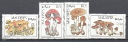 Maldives - Maldivas 1986 Yvert 1106-09, Mushrooms - MNH - Maldives (1965-...)