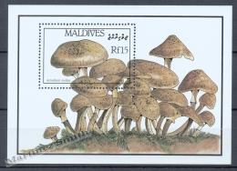Maldives - Maldivas 1986 Yvert BF 128, Mushrooms - Miniature Sheet - MNH - Maldives (1965-...)