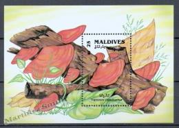 Maldives - Maldivas 1992 Yvert BF 219, Mushrooms - Miniature Sheet - MNH - Maldives (1965-...)