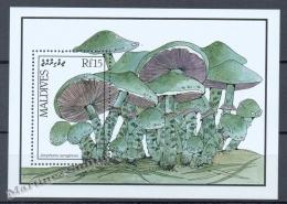 Maldives - Maldivas 1987 Yvert BF 30, Mushrooms - Miniature Sheet - MNH - Maldives (1965-...)
