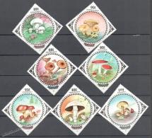 Mongolia - Mongolie 1985 Yvert 1393-99, Mushrooms - MNH - Mongolia