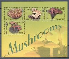 Mongolia - Mongolie 2003 Yvert 2682E-82H, Mushrooms - MNH - Mongolia