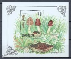 Mongolia - Mongolie 1991 Yvert BF 163A, Mushrooms - Miniature Sheet - MNH - Mongolia