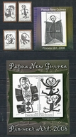 PAPUA NEW GUINEA 2008 Mi # 1318 - 1321 + Bl 61 - 62 ART DRAWINGS MNH - Papua Nuova Guinea