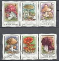 Hungary - Hongrie - Hungria 1986 Yvert 3081-86 , Mushrooms - MNH - Hungría