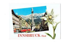 Cpm En Relief Autriche Innsbruck - Maria Theresiastrasse - Fleur Porte-bonheur Edelweiss  Tramway - Innsbruck