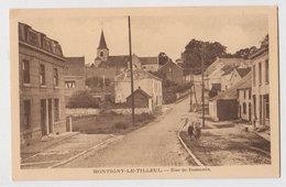 Cpa Montigny Le Tilleul  Rue De Bomerée - Montigny-le-Tilleul