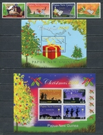 PAPUA NEW GUINEA 2008 Mi # 1373 - 1376 + Bl 73-74 CHRISTMAS MNH - Papua Nuova Guinea