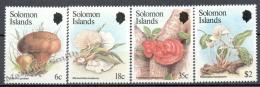 Solomon Islands 1984 Yvert 504-07, Mushrooms - MNH - Islas Salomón (1978-...)