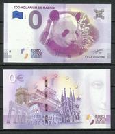 2018 - 1 Billete Turistico. 0 Euro Souvenir. Aquarium De Madrid. - EURO