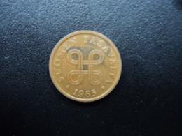 FINLANDE : 5 PENNIÄ  1965   KM 45   TTB - Finlande