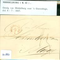 BRIEFOMSLAG Uit 1847 Gelopen Van MIDDELBURG Naar 's-GRAVENHAGE  (16.883) - Niederlande