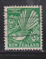 NEW ZEALAND Scott # 185 Used - Bird - Pied Fantail - 1855-1907 Crown Colony