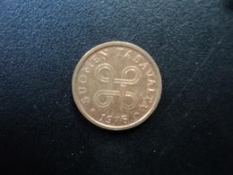 FINLANDE : 5 PENNIÄ  1976   KM 45    SUP - Finland