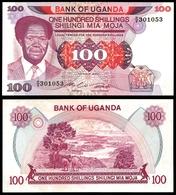 Uganda 100 SHILLINGS ND 1985 P 21 UNC - Ouganda
