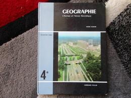 """Géographie """"Classe De 4e"""" L'Europe Et L'Union Soviètique """"Spécimen"""" (René Oudin) éditions Armand Colin De 1963 - Books, Magazines, Comics"""