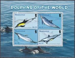 Montserrat 2008 Tiere Fauna Animals Wale Whales Delphine Delfine Dolphins Tümmler Meerestiere, Mi. 1444-7 ** - Montserrat