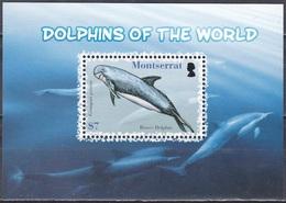 Montserrat 2008 Tiere Fauna Animals Wale Whales Delphine Delfine Dolphins Rundkopfdelphin Meerestiere, Bl. 125 ** - Montserrat