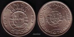 TIMOR (Portuguese Administration)  - 1 Coin Of 5 Escudos  - 1970 - UNC - Timor