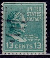 United States, 1938, Millard Fillmore, 13c, Sc#818, Used - Vereinigte Staaten