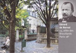 75 PARIS XVIII ème / VUE UNIQUE   /  ALLEE DES BROUILLARDS / GERARD DE NERVAL - Arrondissement: 18
