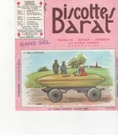 Buvars Biscottes BARAT Série Automobiles La Jamais Contente - Zwieback