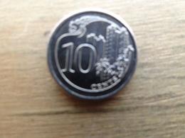 Singapour  10  Cents  2013  Km 100 - Singapur