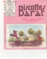 Buvars Biscottes BARAT Série Automobiles Mercédes 1901 - Zwieback