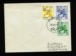 A5408) Sudan Brief Khartoum 25.8.60 - Sudan (1954-...)