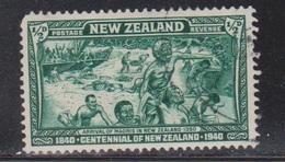 NEW ZEALAND Scott # 229 Used - Landing Of The Maoris In 1350 - 1855-1907 Crown Colony